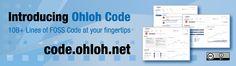 Ohloh Code - 10b+ Lines of FOSS Code at Your Fingertips! code.ohloh.net