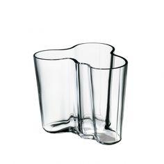 Alvar Aalto váza 95mm, čirá