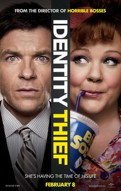 Identity Thief is a Hollywood Comedy film starring Jason Bateman, Melissa McCarthy. Identity Thief is a story about a man who gets his identity stolen by a woman. Funny Movies, Comedy Movies, Good Movies, Funniest Movies, Movies Free, 4 Movies, Amazing Movies, Movies 2019, Scary Movies