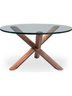 Kardiel Tripod Mid-century Modern Coffee Table, Walnut Wood ❤ Kardiel