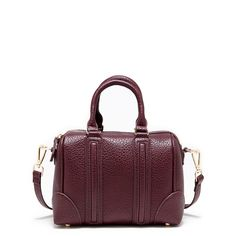 Women's Eggplant Faux Leather Mini Textured Satchel | Kimberly by Sole Society