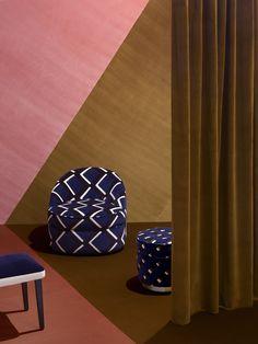 TRUE VELVET - A bold, medium, fine colored velvet collection by India Mahdavi