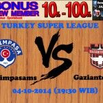 Prediksi Pertandingan Kasimpasa vs Gaziantepspor 04-10-2014 TURKEY SUPER LEAGUE