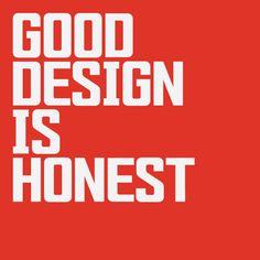 Good Design is Honest by Mariya V. Pigoulevskaya and Jonathan Hill via TypographyServed