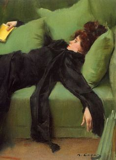 Ramon Casas i Carbó, Decadence, 1899    (This is how I sit until I do something)