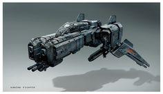 Matt Codd Concept Art and Illutration - Spaceship Fighter