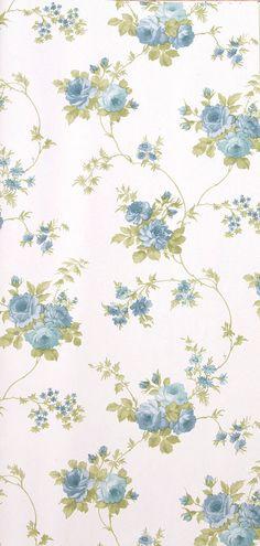 Engelse bloemetjes behang petit fleur rasch 12 behang for Papel pintado romantico