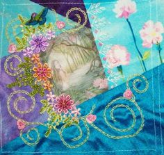 embroidery crazy quilt | Embroidery, Silk & Crazy Quilt / I crazy quilting & embroidery ...