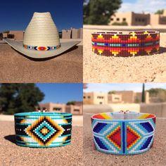 Tribal Blanket Bead Loom Bracelet Bohemian Boho Chic Gifts for Bracelet Patterns, Beading Patterns, Style Indien, Photo Elements, Bead Loom Bracelets, Loom Bands, Native American Fashion, Turquoise, Loom Beading