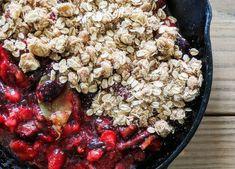 Fig-Strawberry Crisp with Honey, Orange + Bay, via HEATHER GOESCH NUTRITION