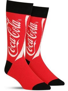 Sometimes you just need a little liquid pick-me-up. On your way to the soda machine, put a bubbly spring in your step with these cool men's Coke socks featuring the classic brand's red and white logo! These fun crew socks will add some zing to your sock wardrobe and make a great gift for all the Coca-Cola lovers you know! Crew length Fits men's shoe size 7-12.5 Contents: 70% Cotton, 27% Nylon, 3% Spandex Also available for women by Socksmith