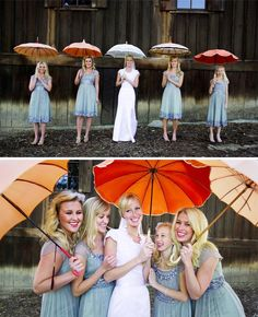 Umbrellas for your bridal party | Green Wedding Shoes Wedding Blog | Wedding Trends for Stylish + Creative Brides
