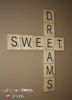 scrabble tile wall art - easy to make and cute for any room or holiday