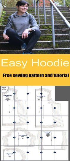 Free Sewing Pattern: Easy Hoodie