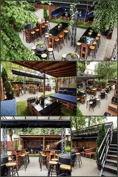 Rock 'N' Roll pub backyard in Šiauliai, Lithuania. Irish Pub Interior, Bar Interior, Interior And Exterior, Lithuania, Life Images, Backyard Ideas, Great Places, Rock N Roll, Exterior Design