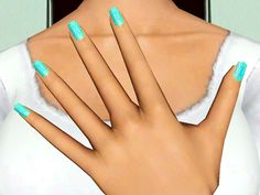 My Sims 3 Blog: Circular Design Nails by Sleepy-Genius