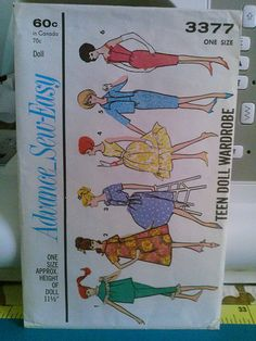 Barbie Sewing Pattern Advance 3377 | Flickr - Photo Sharing!
