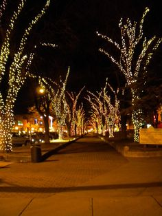 Downtown Prescott, AZ during the holidays. Be sure to stop by the court house lighting in December! Prescott Valley, Prescott Arizona, Western Christmas, Christmas Night, Great Places, Places To See, Beautiful Places, Vacation Places, Vacation Spots