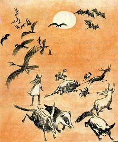 【絵本】「ムーミン」の原作者トーベ・ヤンソンの描いた『不思議の国のアリス』が素敵!   Amp.