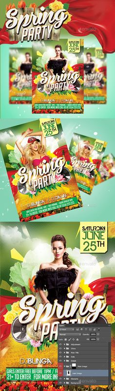 Spring Party Flyer  Flyers Party Events And Spring