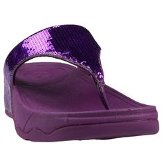 ee5731f9f2b Sparkly Purple FitFlops! Electra Slide Fitflop