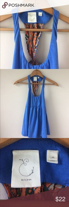 """Eloise Scarf Tie Back Halter EUC   Adorable Halter with flower bohemian print, orange, green and blue   XS will fit a small Length: 20.5"""" Chest: 14""""-17"""" Anthropologie Tops"""
