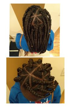 Super cute Braids with Triangle parts, such a fun, playful look! Also with the added jewelry to spice up the look! Styled by Koko!  #DjeaNaturalHairSpa #ConyersHolisticHairSpa #NaturalHair #Preserve #Restore #Transition #HairStylist #NaturalHairCare #Braids #HairJewelry www.DjeaHairSpa.com (678) 680-3732 (770) 768-9162