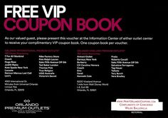 Share a Coupon for Discounts at the Orlando Premium Outlets