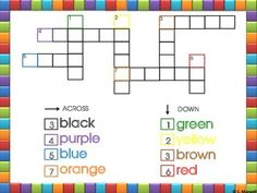 by Christine Maxwell Pre-Kindergarten - Grade This is a beginning crossword puzzle. It can be done one-on-one, small group,. Teaching Kindergarten, Teaching Resources, Teaching Ideas, Creative Teaching, Kindergarten Freebies, Fun Classroom Activities, Classroom Ideas, Primary Classroom, Future Classroom