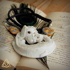 Falkor by Nad-inArt #atreyu #auryn #craft #dragon #falkor #fanart #fantasy #handmade #jewelry #luckdragon #magical #necklaces  #neverendingstory #ooak #pearls #polymerclay #sculpture #theneverendingstory #vintage #whitedragon #childlikeempress #naszyjnik #pearldragon #uniquejewelry #etsyseller #polymerclaydragon #etsyfantasy #bibnecklaces #nadinart #nad_inart