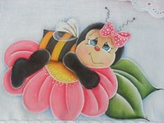 risco de pintura de abelha bem bonita - Pesquisa Google Tole Painting, Fabric Painting, Painting On Wood, Coloring Books, Coloring Pages, Wood Craft Patterns, Bee Party, Country Quilts, Rock Decor