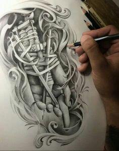 Incredible drawings works by designer tattoo David Garcia