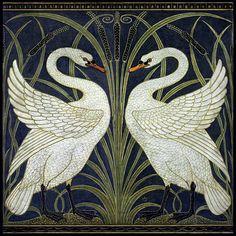 Walter Crane - 'Swan, Rush and Iris', 1875