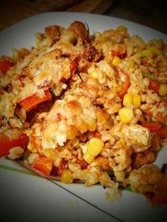 Gesunde Alternative zu Nudeln oder Reis gesucht? Dieser Auflauf mit Ebly Zartweizen, frischem Gemüse und Fleisch überzeugt garantiert! :)