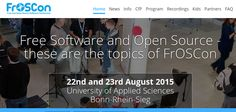 22nd and 23rd August 2015  University of Applied Sciences  Bonn-Rhein-Sieg    Free Software and Open Source  These are the topics of FrOSCon