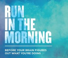 My brain usually figures out about halfway through my run... but by that point I'm starting to feel good about it! :P