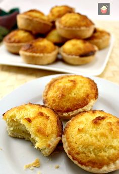 These are a wonderful little tart, filled with a moist coconut egg custard filling. Great for the family and if you're making these for a party, be sure to make plenty! Freezer friendly too! Coconut Recipes, Tart Recipes, Best Dessert Recipes, Sweet Recipes, Uk Recipes, Asian Desserts, Just Desserts, Delicious Desserts, Chinese Desserts