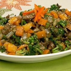 Black Bean Beef and Vegetable Stir-Fry