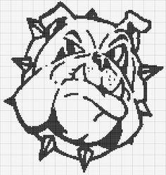 Bulldog, found on : http://www.angelscrochet.com/charts/bulldog1.php