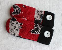 upcycled sweater mittens sweater mittens by miraclemittens on Etsy, $38.00