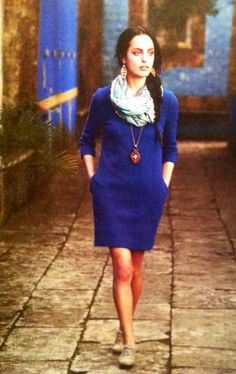 Anthropologie cobalt blue dress