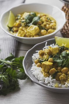 Chickpea, Tofu and Spinach Curry
