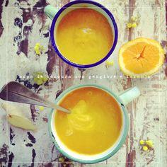 Sopa de cenoura com gengibre e laranja