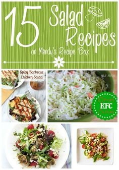 May is National Salad Month. How fitting since it's Spring and everyone is wanting to slim down for bathing suit season as well as eating all the fresh food that is coming in season. I've rounded up 20 great salad recipes for you to help you eat healthy but also enjoy it! {Click on the …