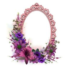 Cluster Frame, Purples, Pinks Polyvore ❤ liked on Polyvore featuring borders and picture frame