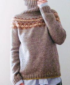 Fair Isle Knitting, Knitting Yarn, Hand Knitting, Knitting Patterns, Hand Knitted Sweaters, Wool Sweaters, Icelandic Sweaters, How To Start Knitting, Warm Outfits