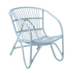 Bloomingville Rotan stoel licht blauw