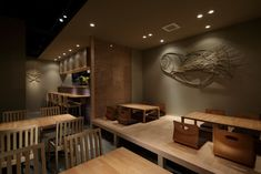 We like how everything is simple and not cluttered Japanese Restaurant Interior, Japanese Interior, Cafe Interior, Asian Interior Design, Asian Design, Restaurant Concept, Cafe Restaurant, Japanese Shop, Oriental Design