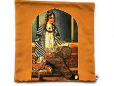 ALANGOO - Persian Velvet Pillow/Cushion Cover