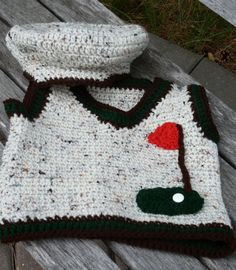 Baby Golfer by Kikkinkazkreativekid on Etsy, $35.00
